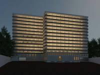 دانلود پلان هتل 4 ستاره به همراه رندر